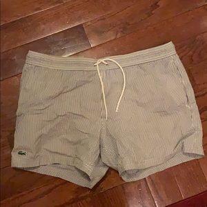 Lacoste swim shorts size L